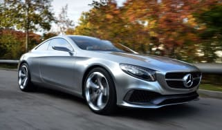 Mercedes S-Class Coupe Concept 2014 front tracking