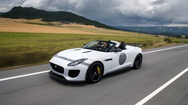 The Jaguar Project 7 is based on the F-Type R Convertible, adding more style and power, whilst losing weight too.