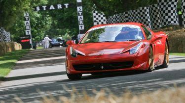 Ferrari 458 Spider at Goodwood