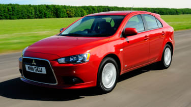 The ninth generation of Mitsubishi Lancer.