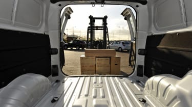 The van can offer comfortable seating for six people and a 2.5 m3 load space.