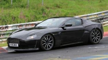 Aston Martin V8 Vantage spy shot - front cornering 2
