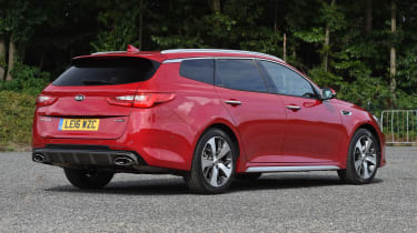 Kia Optima Sportswagon - rear static
