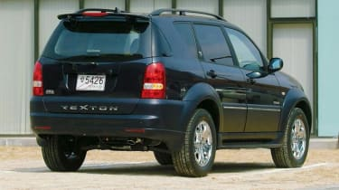 Rear view of SsangYong Rexton II