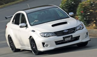 Subaru Impreza S206 front cornering
