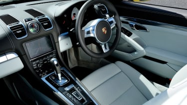 The Boxster's interior is comfortable for two people.