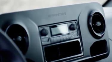 New Mercedes Sprinter 2018 teaser video screen shots dash