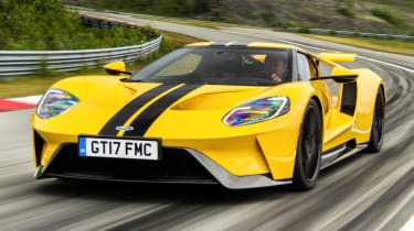 Ford GT Norway road trip - front track