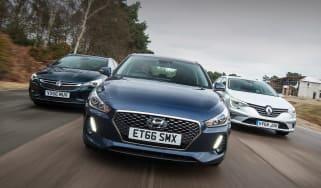 Hyundai i30 vs Renault Megane vs Vauxhall Astra - header