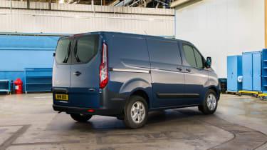 Ford Transit Custom - rear static blue