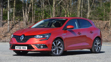 Honda Civic vs Volkswagen Golf vs Renault Megane - megane front quarter