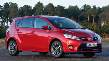The Toyota Verso was recently facelifted with Toyota's corporate grille as well as a new engine and more equipment.