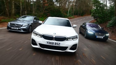 BMW 3 Series vs Mercedes C-Class vs Jaguar XE - head-to-head