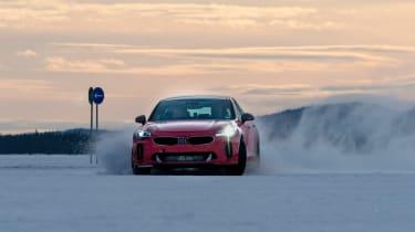 Kia Stinger GT prototype - front sunset