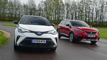 Toyota C-HR vs Peugeot 3008 - head-to-head