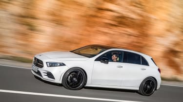 New Mercedes A-Class - white side