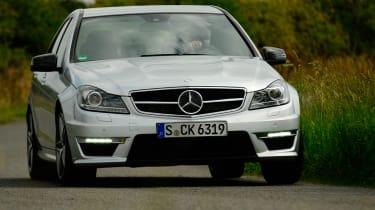 Mercedes C63 AMG front cornering