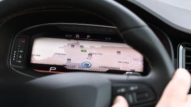 cupra ateca long-termer dashboard digital display