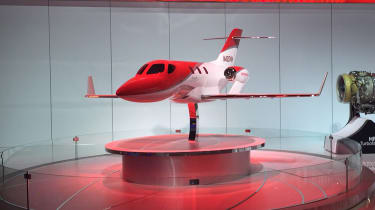 "<p class=""p1"">Honda decided that despite this being the North American International Auto Show, it would display a miniature version of its new aeroplane. The Honda Jet will take to the skies later this year, aimed at wealthy corporate"