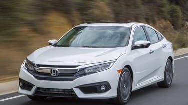 Honda Civic driving