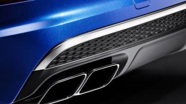 Audi SQ7 blue - exhaust