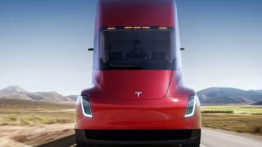 Tesla lorry - electric truck revealed - red front