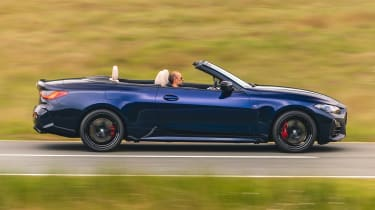 BMW M440i Convertible - side roof down