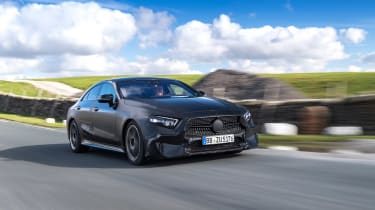 Mercedes CLS prototype - front tracking
