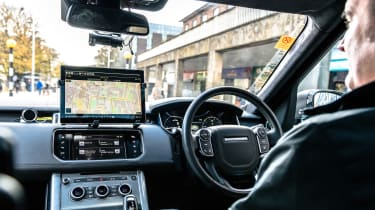 Jaguar Land Rover autonomous testing - interior