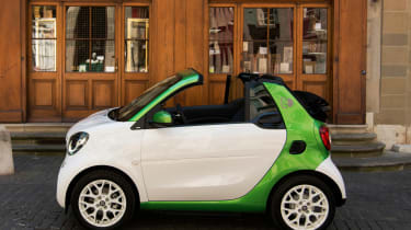 Smart ForTwo Electric Drive Cabrio - side static