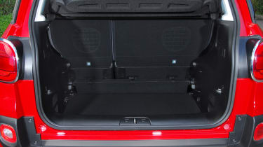 The 500L's boot is large and has a 3-way adjustable floor.