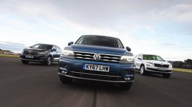 Volkswagen Tiguan Allspace vs Kia Sorento vs Skoda Kodiaq - head-to-head
