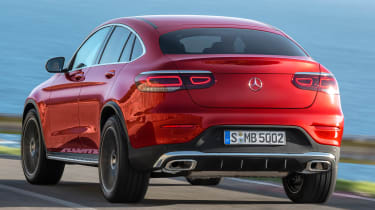 Mercedes GLC Coupe - rear tracking