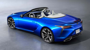 Lexus LC Convertible - blue above