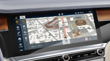 Bentley Continental GT - sat-nav