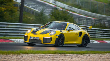 Porsche 911 GT2 RS Nurburgring record - front