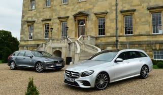 Mercedes E-Class Estate vs Volvo V90 - header