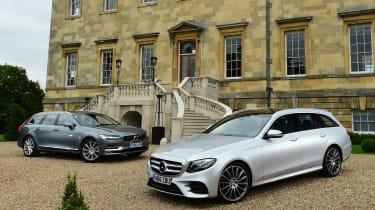 Mercedes E-Class Estate vs Volvo V90 - header