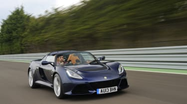 Lotus Exige S Roadster front action