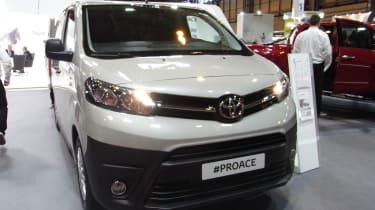 Toyota Proace CV show - front three quarter