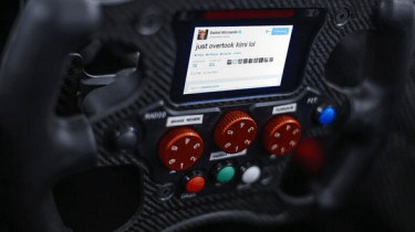 <span>Red Bull announced a new addition to its F1 steering wheel for April Fools' Day 2014 – technology that would allow drivers to tweet during a race.&nbsp;</span>