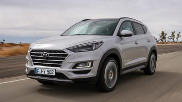 Facelifted Hyundai Tucson - front