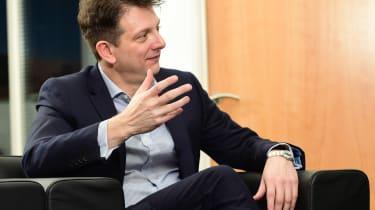 Jaguar Land Rover visit - Nick Rogers talking