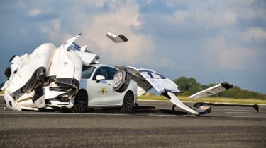 Thatcham road safety tech test - crash