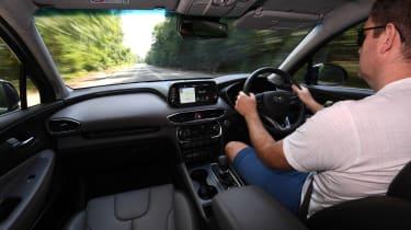 Hyundai Santa Fe interior drive LT
