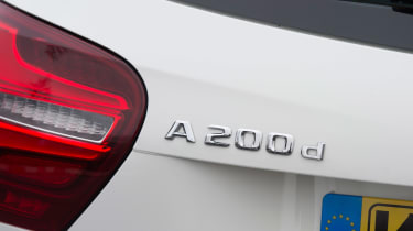 Mercedes A200d badge