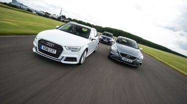 Audi A3 vs Volvo V40 vs Volkswagen Golf - header2