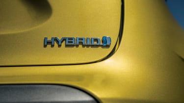 Toyota Yaris Cross prototype - hybrid badge