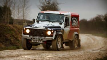 Land Rover Defender Challenge front action