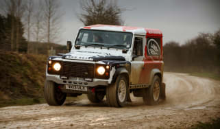 Land Rover Defender Challenge front action